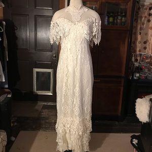 Loralie Original White Lace Wedding Dress.